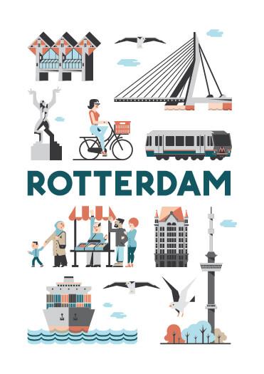 Rotterdam poster en souvenirs