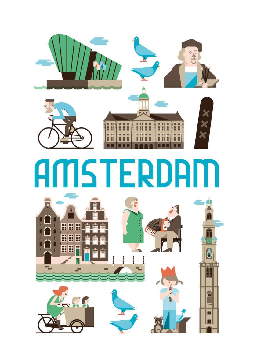 Amsterdam poster en souvenirs