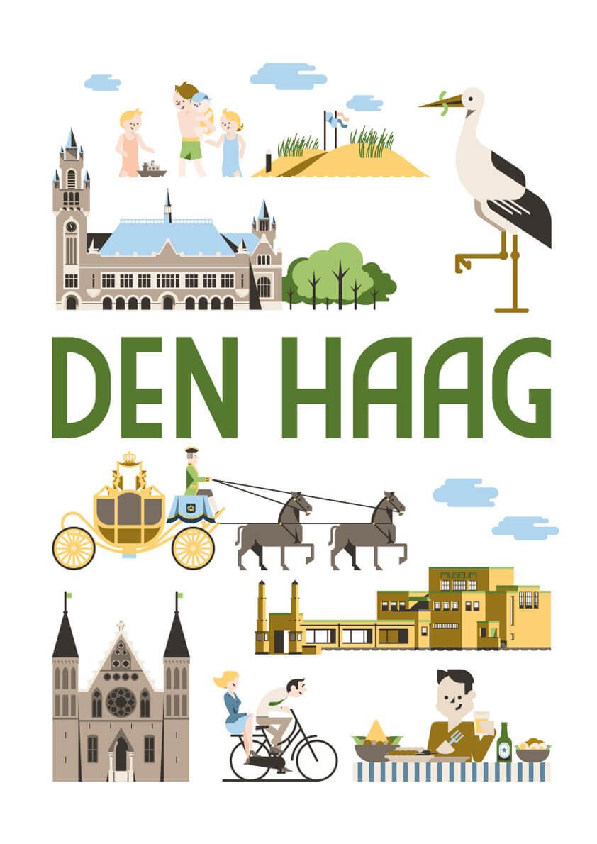 Den Haag poster en souvenirs