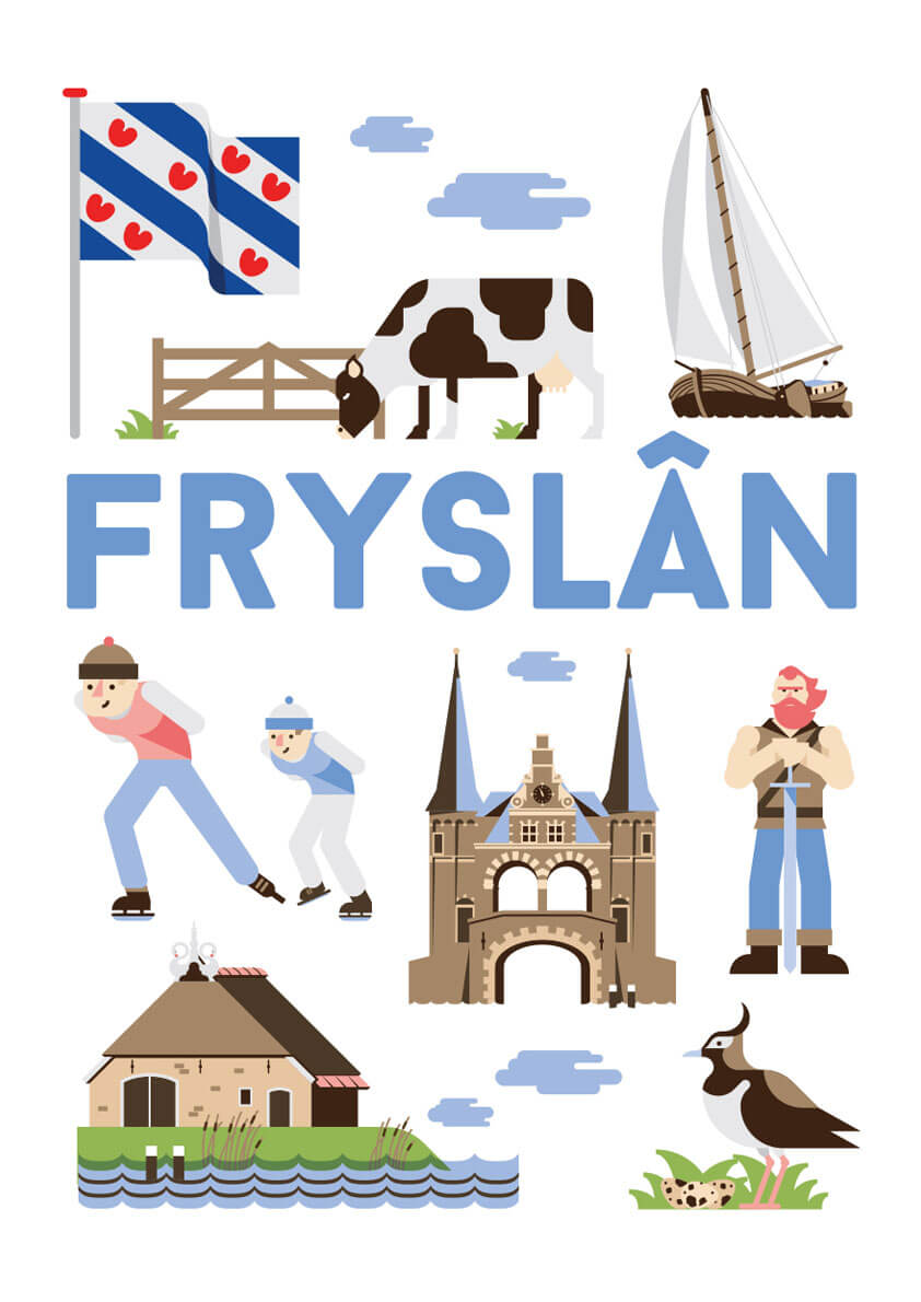Fryslan poster en souvenirs