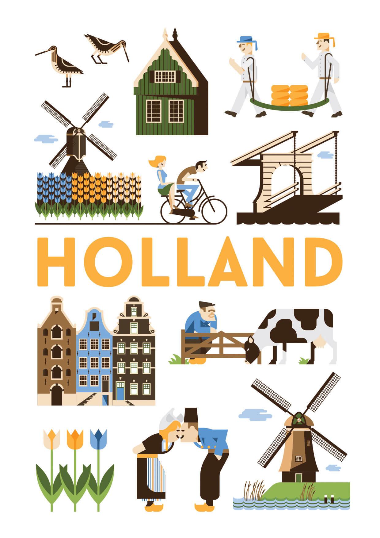 Holland poster en souvenirs