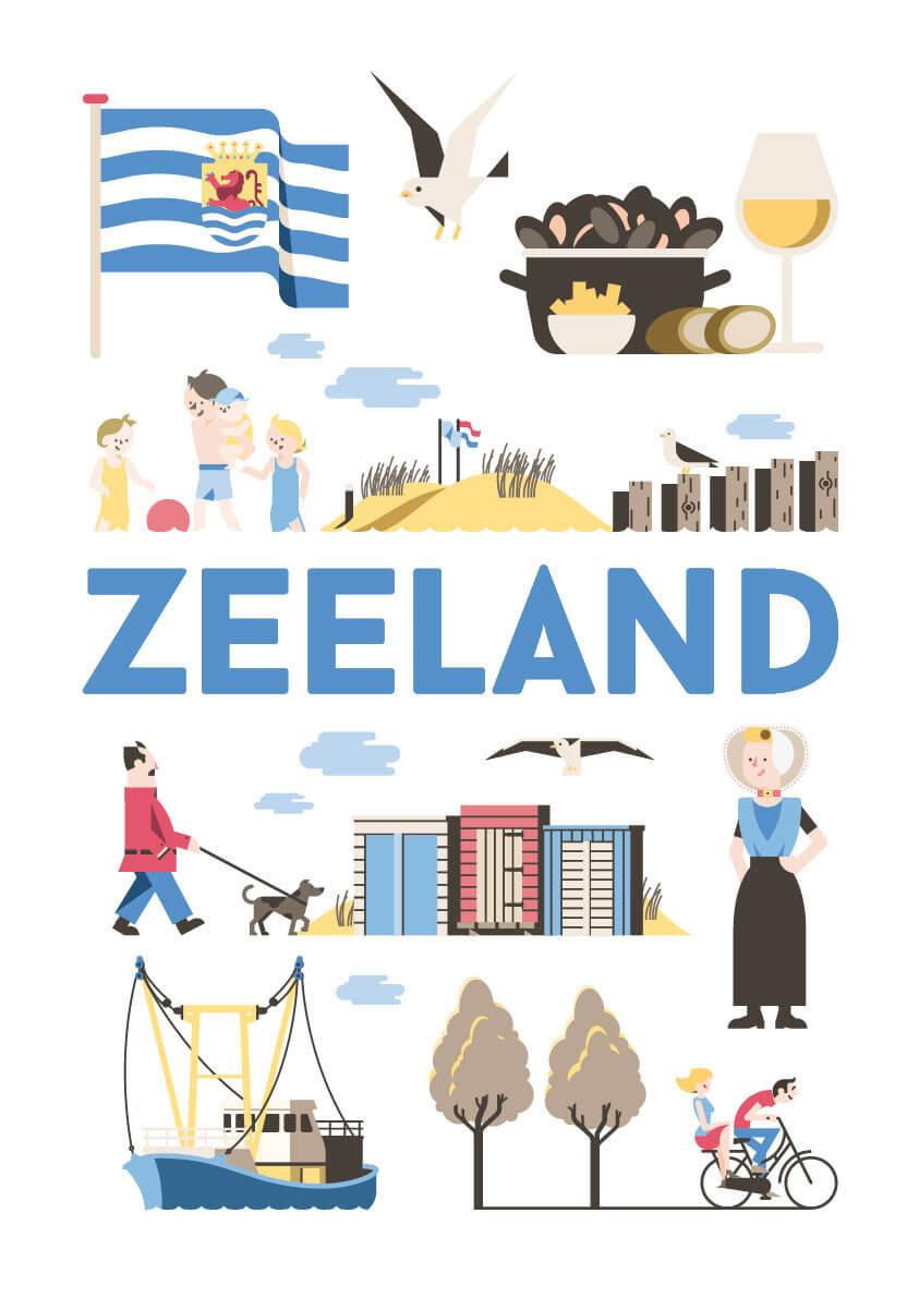 Zeeland poster en souvenirs