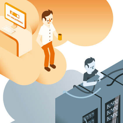 Infographics Ziggo werken in de  cloud