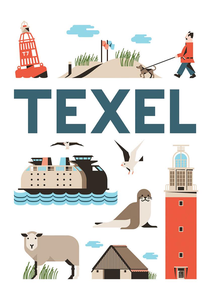Texel poster en souvenirs
