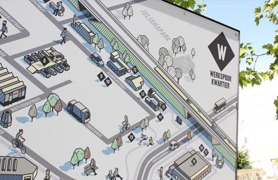 Plattegrond & vouwkaart Werkspoorkwartier