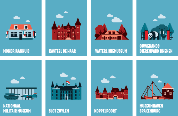 Iconen Highlights Utrecht Region