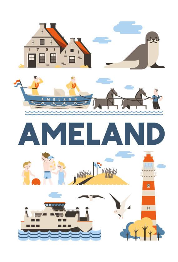 Stedenposters_Ameland