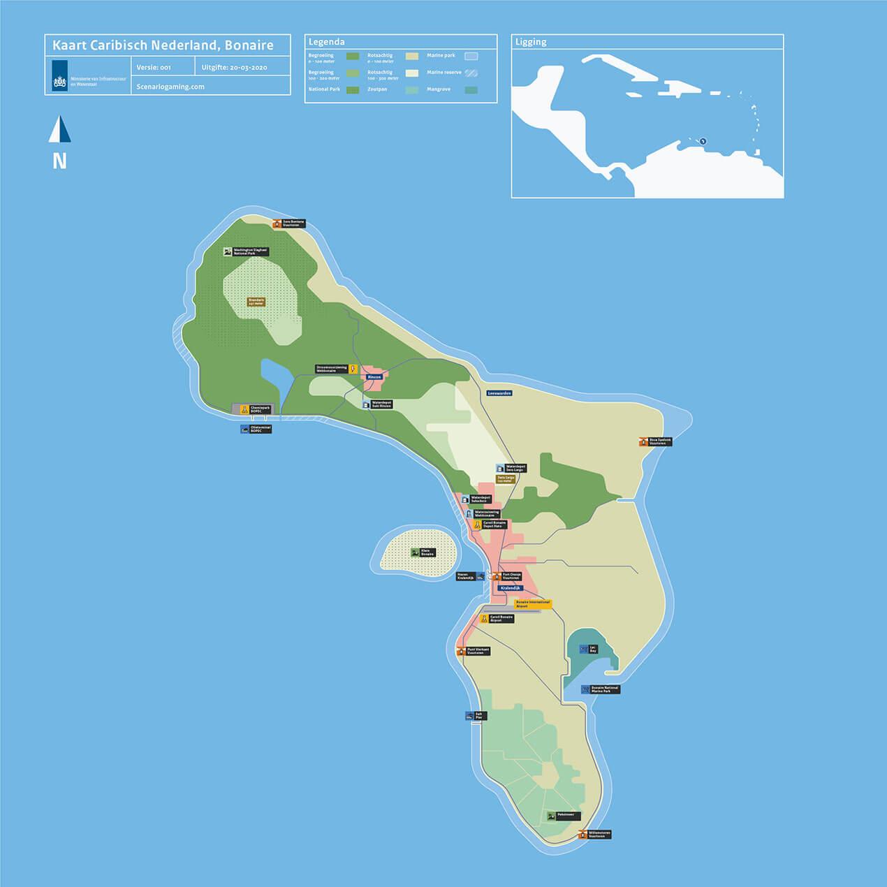 DCC-I&W_Kaart_Caraibisch_Bonaire