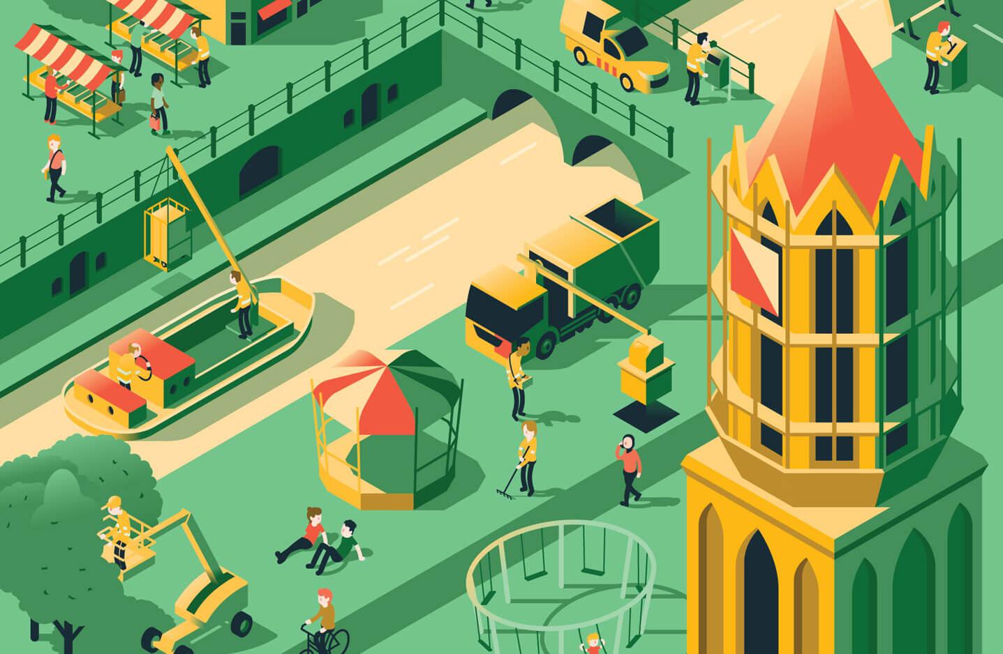 Infographics Stadsbedrijven Gemeente Utrecht