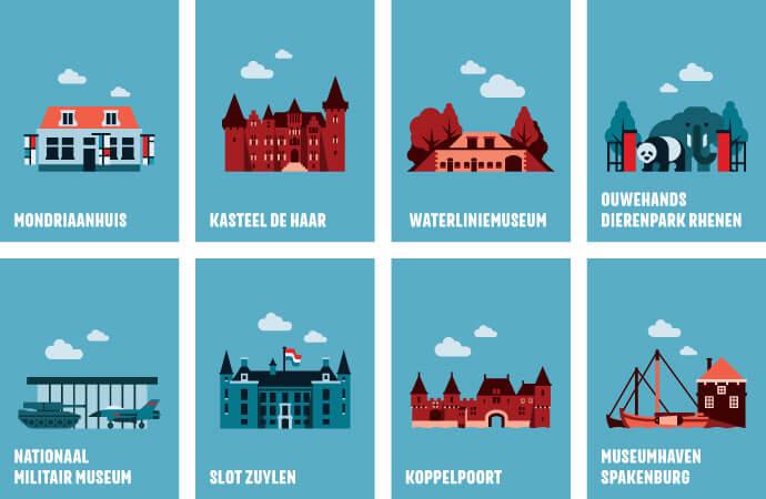 Iconen highlights Utrecht Region