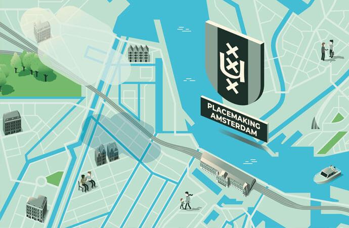 Interactieve kaart placemaking Amsterdam UvA